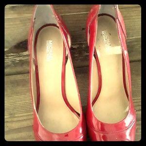Red Michael Kors high heels